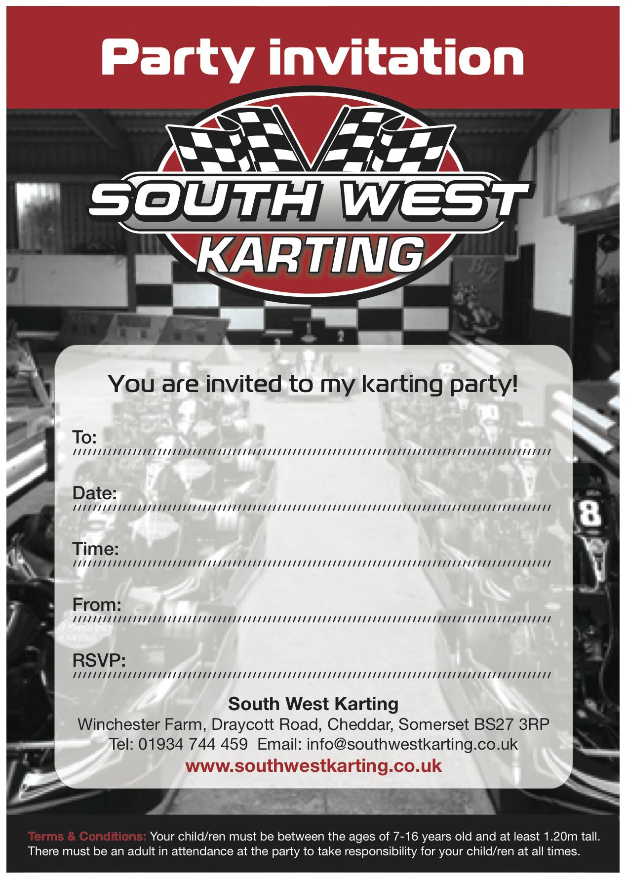 PARTIES   SouthWestKarting
