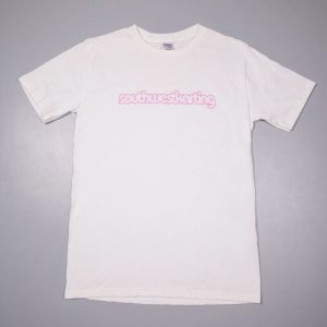 white t-shirt with pink southwestkarting karting uk somerset