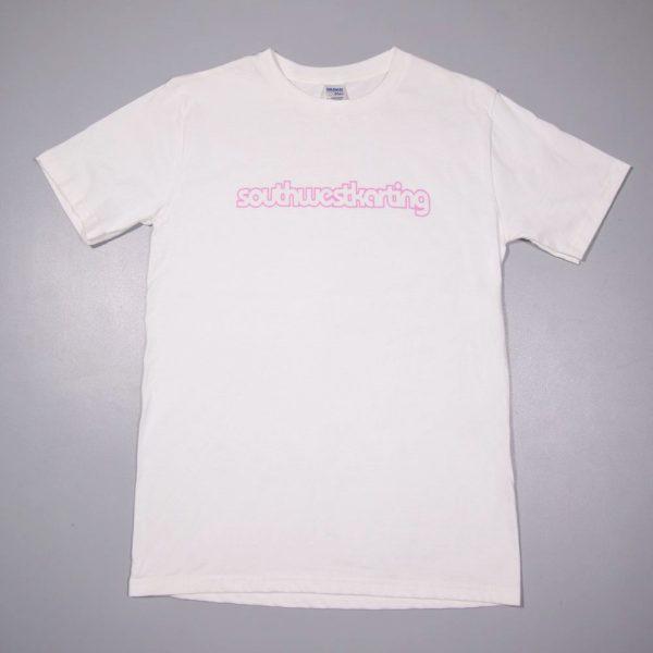 white t-shirt with pink southwestkarting karting uk somerset