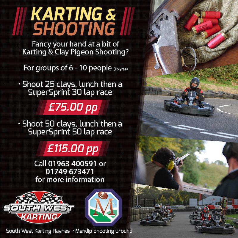 Karting and Shooting ad haynes copy