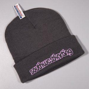 SWK Beenie Hat Grey/Pink